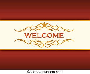 welcome illustration background