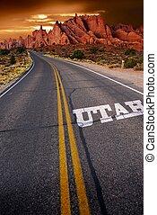 Welcome in Utah - Trip to Utah. Utah State Rocky Sandstones...