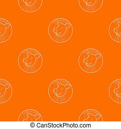 Welcome invitation to barbecue pattern orange for any web design best