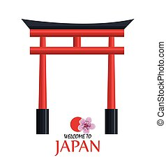welcome japan icon design