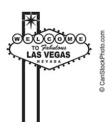 welcome to fabulous las vegas nevada sign, isolated. vector