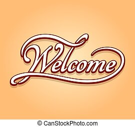 Welcome lettering calligraphy
