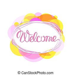 Welcome lettering vector.