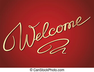 Welcome lettering - Welcome handwritten lettering