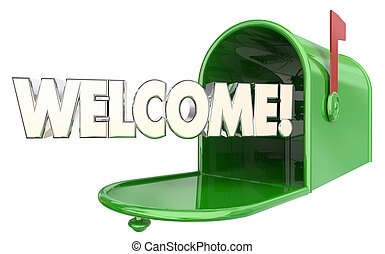 Welcome Mailbox Message New Resident Greeting 3d...