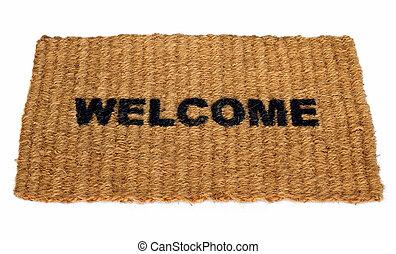Welcome mat - A straw welcome mat.