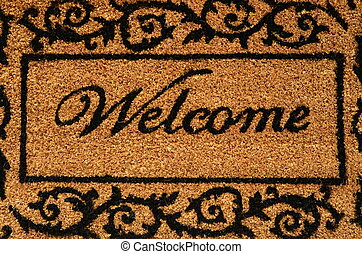 Welcome Mat Background - Conceptual Image Of A Welcome Door...