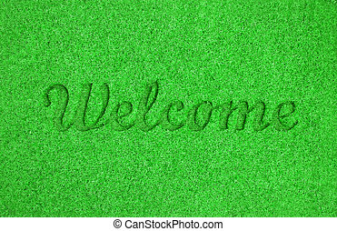 Welcome mat background