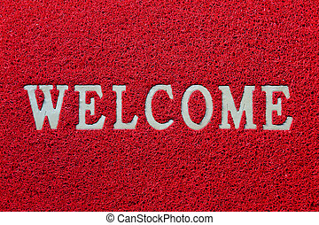 Welcome mat isolated