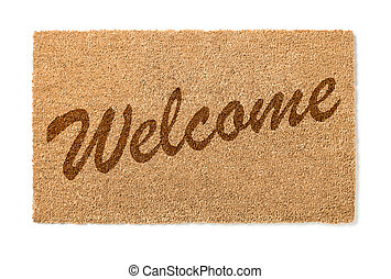 Welcome Mat On White