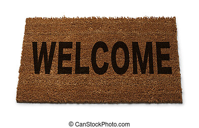 Welcome Mat - Natural Brown Door Mat with Welcome on it...