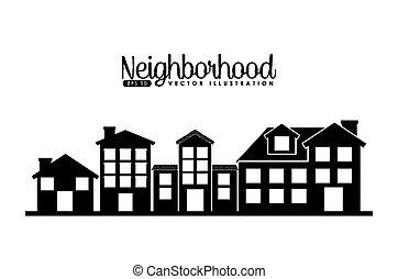 welcome neighborhood design, vector illustration eps10 ...