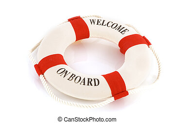 welcome on board with lifebuoy