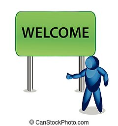 welcome. People Icon. illustration in vector format.