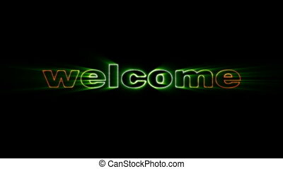 Welcome radioactive - HD animation with elements explosion...