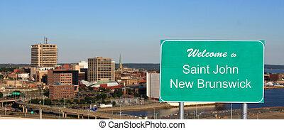Welcome Saint John sign - Welcome to Saint John, New ...