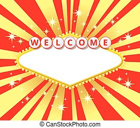Welcome sign background