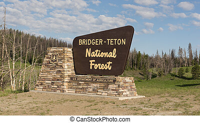 Welcome Sign Bridger-Teton National Forest US Department of Agriculture