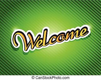 welcome sign card illustration design