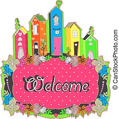 welcome sign design