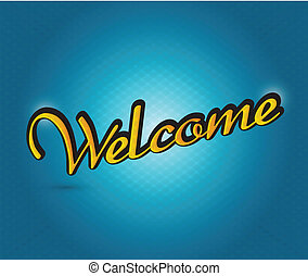welcome sign illustration design