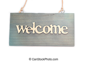 Welcome sign isolated