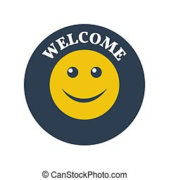 welcome sign on white background.