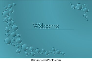 Welcome sign with blue background