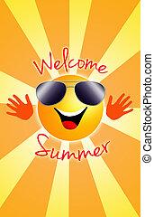 Welcome summer! - a sun in summer