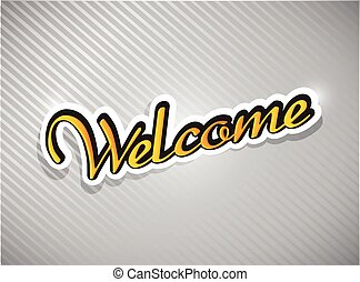 welcome text card illustration design