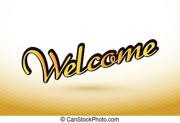 welcome text illustration design