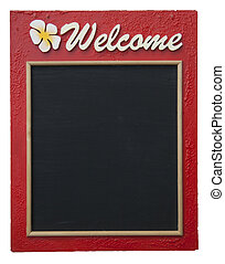 Welcome - The welcome wooden board craftsmanship