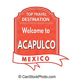 Welcome to Acapulco stamp