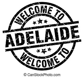 welcome to Adelaide black stamp