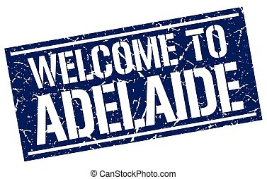 welcome to Adelaide stamp
