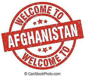 welcome to Afghanistan red stamp