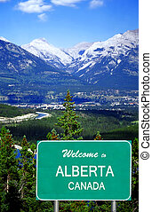 Welcome to Alberta sign - Welcome to Alberta Canada highway...