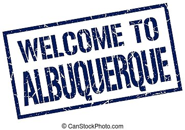 welcome to Albuquerque stamp
