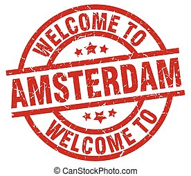 welcome to Amsterdam red stamp