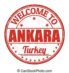 Welcome to Ankara stamp