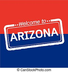 Welcome to ARIZONA of US State illustration design