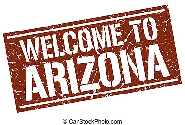 welcome to Arizona stamp
