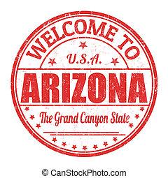 Welcome to Arizona stamp - Welcome to Arizona grunge rubber...