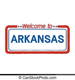 Welcome to ARKANSAS of US State illustration design