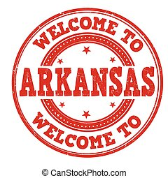 Welcome to Arkansas sign or stamp