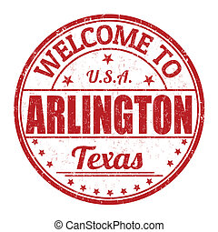 Welcome to Arlington grunge rubber stamp on white background, vector illustration