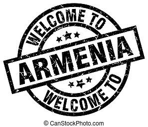welcome to Armenia black stamp