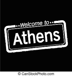 Welcome to Athens city illustration design