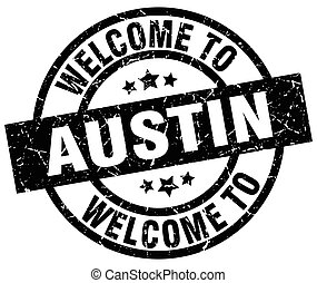 welcome to Austin black stamp