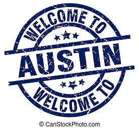 welcome to Austin blue stamp